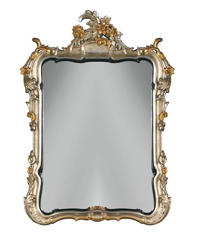 Miroir Château en feuille d'or