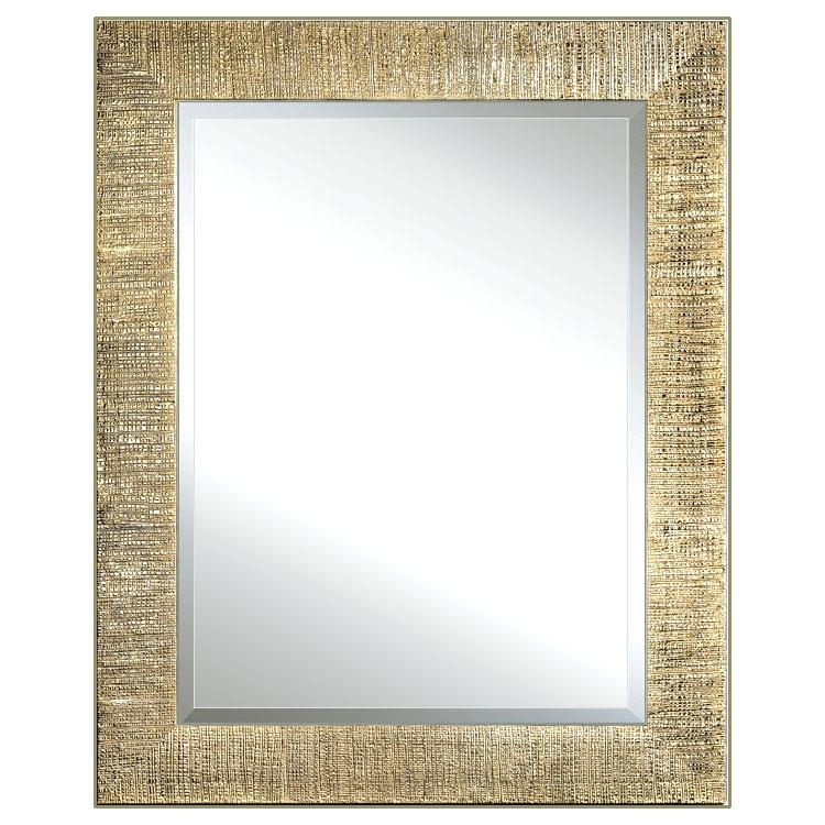 Miroir feuille d'or effet moletée