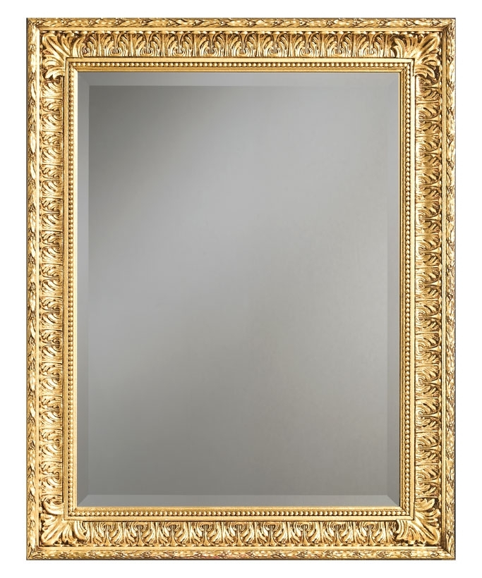 Miroir classique à la feuille d'or ou d'argent