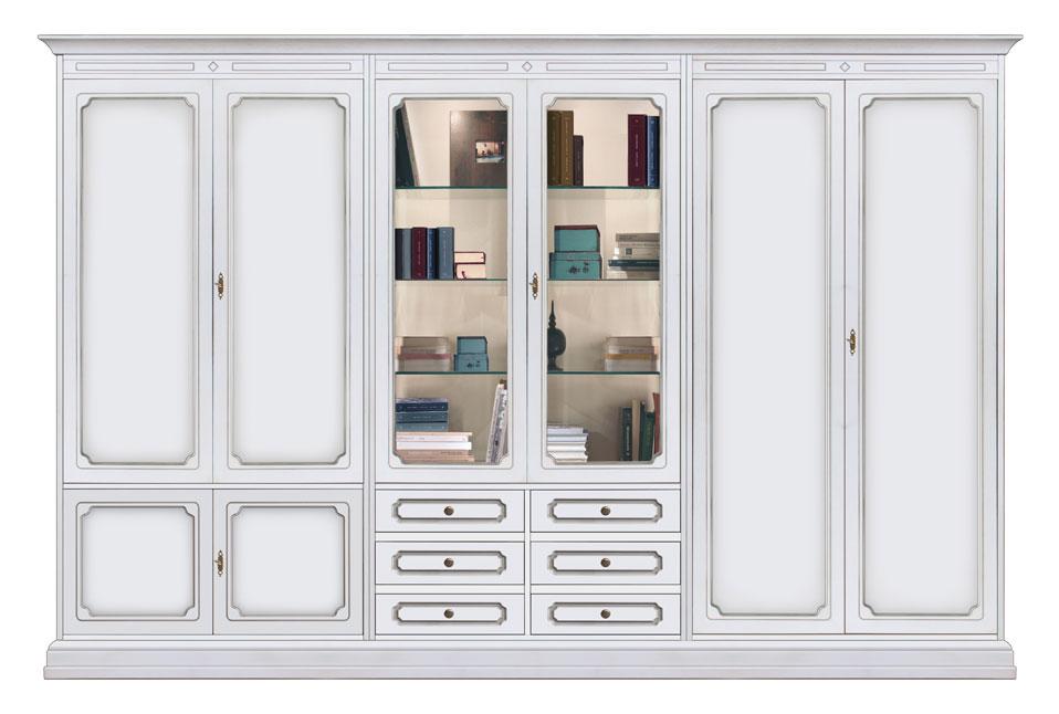 Wohnwand 3 m klassischer Stil