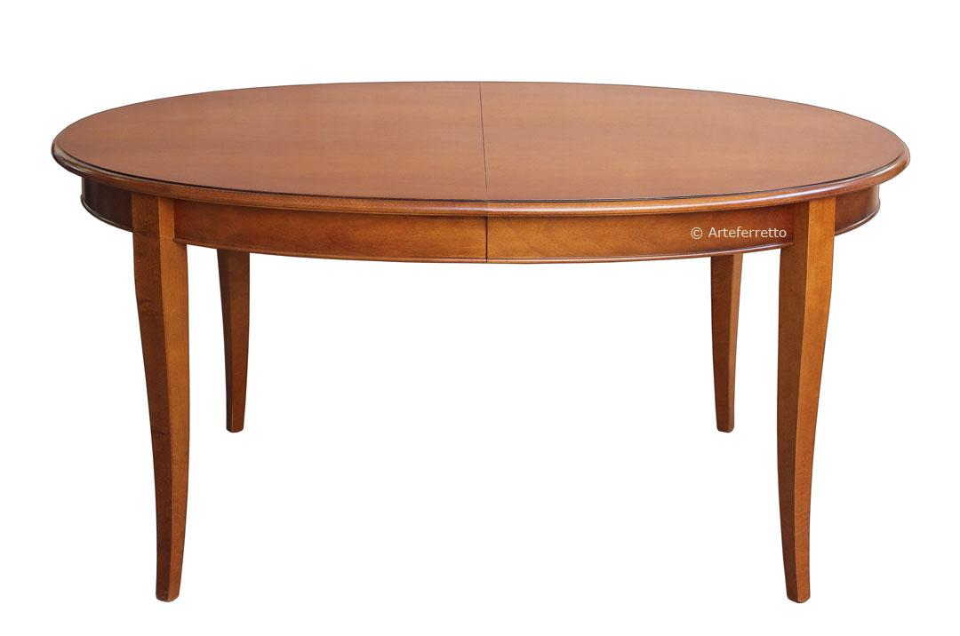 Ovaler Tisch ausziehbar 160-250 x 110cm klassisch