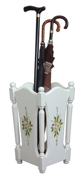 Porte parapluie laqué et décoré