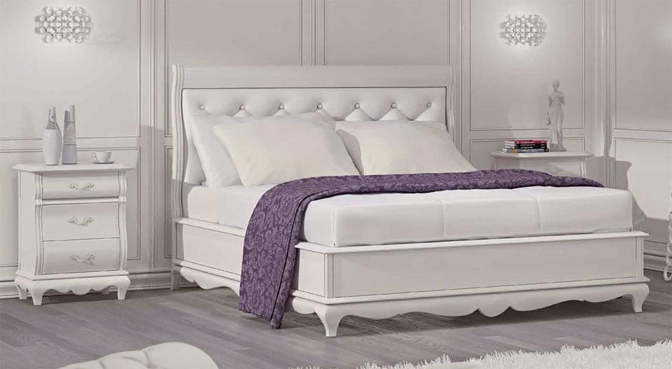 Doppelbett weiß -  White Dream