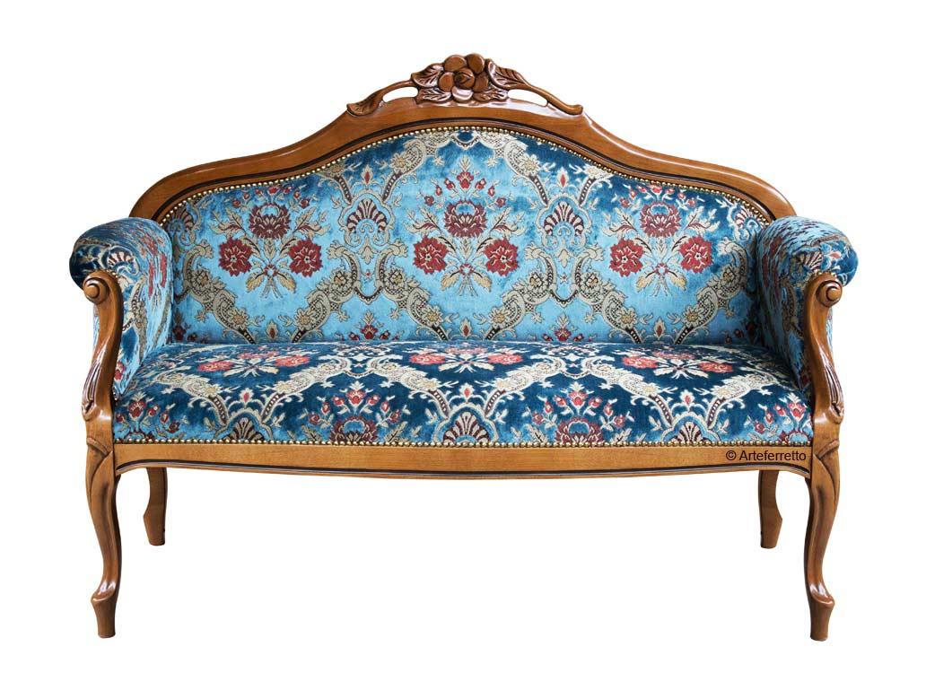 Sofa 2 Sitze im klassischen Stil Fleur