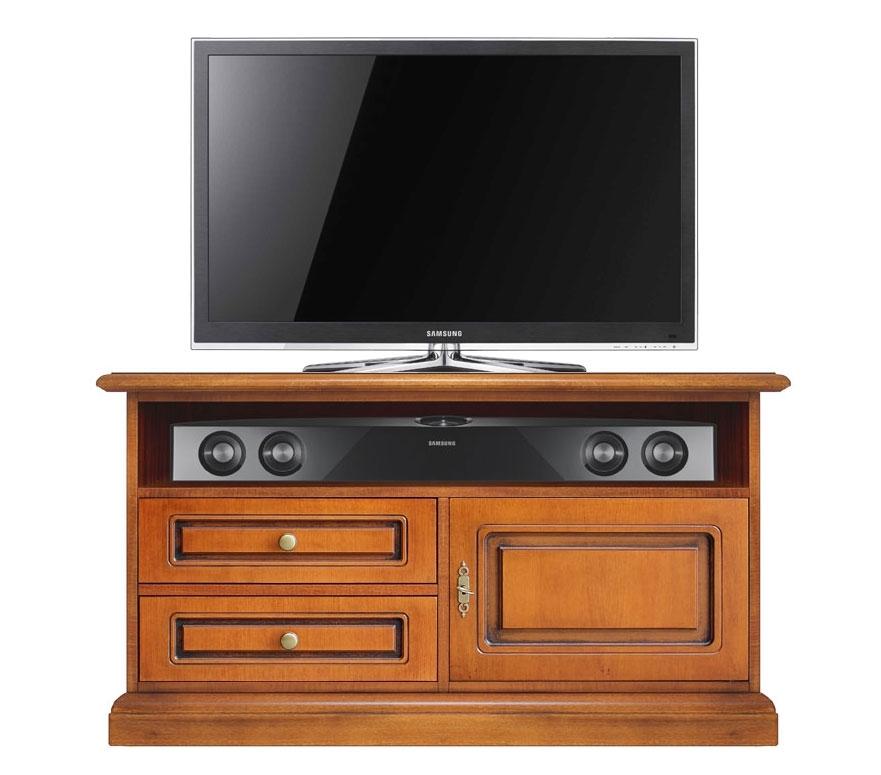 Möbel-TV soundbar 1 Tür 2 Schubkästen