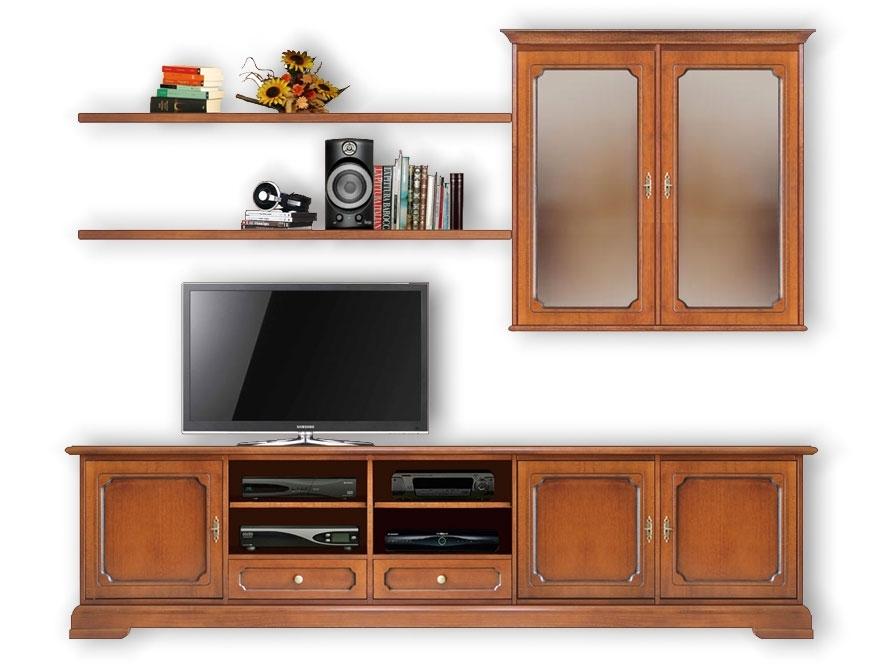 TV Wand mit Aufsatz Vitrine