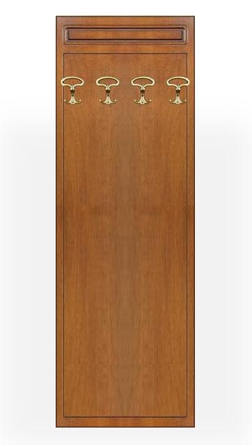 Garderobe Paneel aus Holz 4 Haken