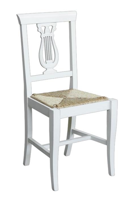 Stuhl mit Strohsitz Leier