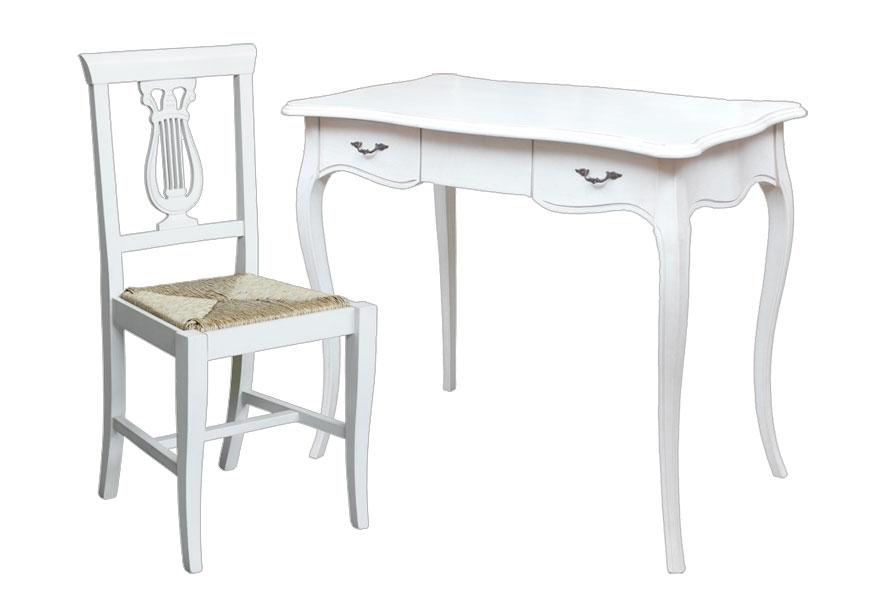 Bureau laqué et chaise assortie