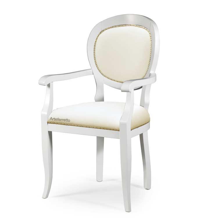 Klassischer Armlehnstuhl gepolstert Stuhl Design