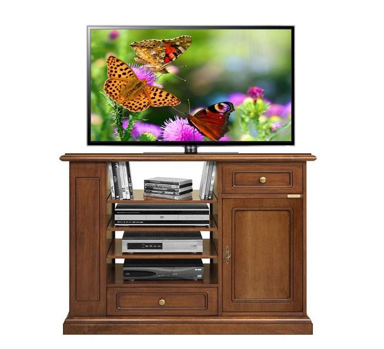 TV-Schrank 82 cm hoch 1 Tür 2 Schubladen