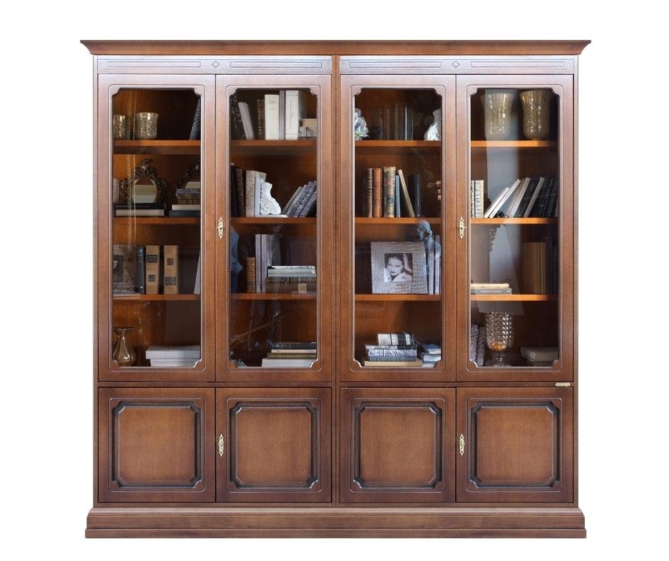 Bücherschrank Vitrine Glastüren geräumig