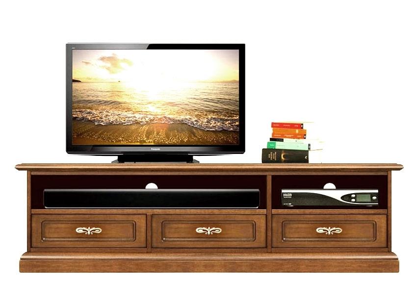 Meuble Tv bas Barre de son 3 tiroirs