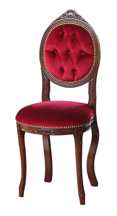 Chaise classique capitonnée Ovalina