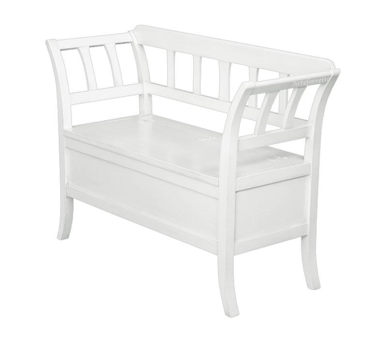 Sitzbank mit Klappe weiß