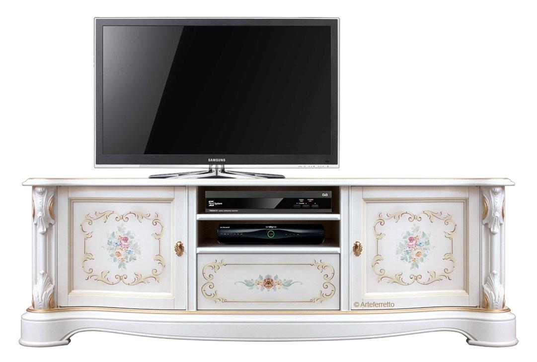 Lackiertes Möbel Tv mit Dekor