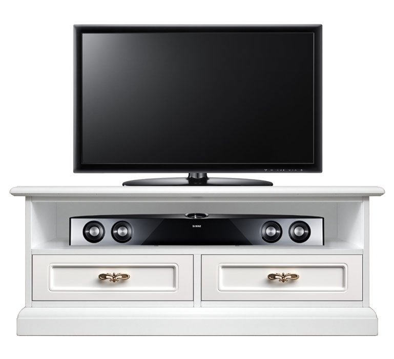 Meuble TV barre de son 2 tiroirs