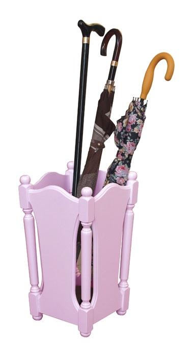 Porte parapluie stylisé laqué rose