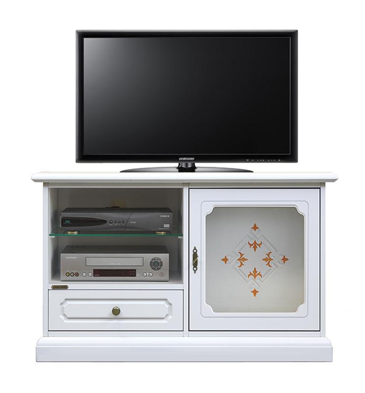 TV-Schrank mit Dekor Glastür