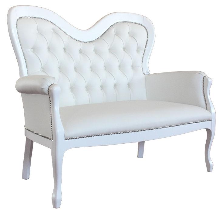 Sofa weiß Liebe auf den ersten Blick 2 Sitzplätze