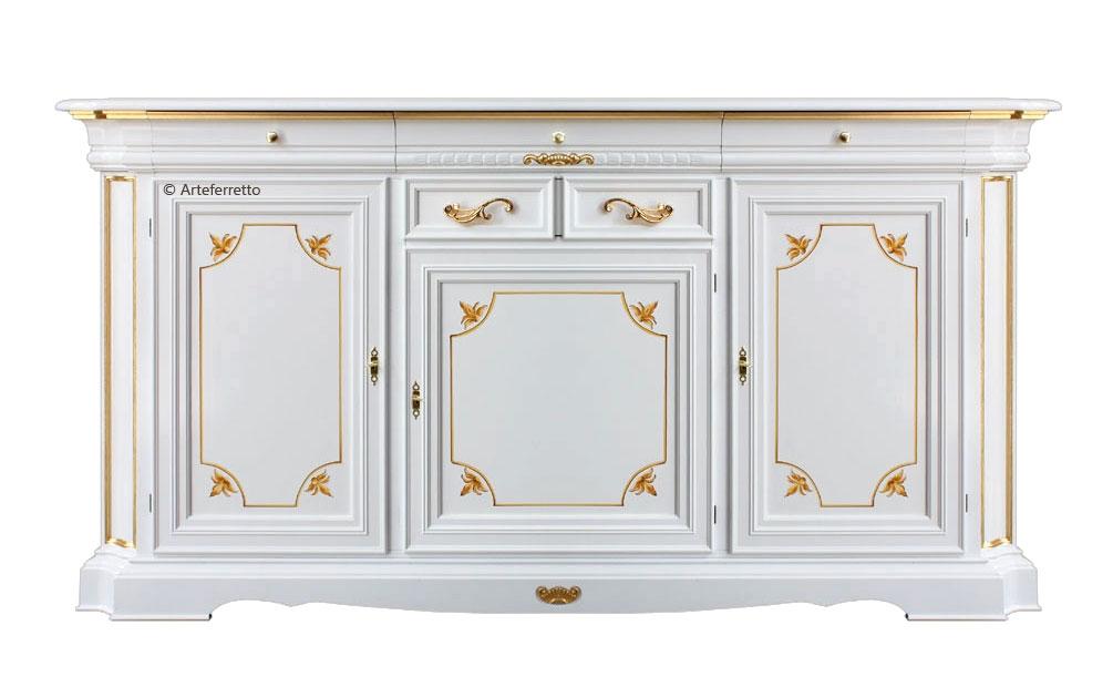 Buffet 3 portes 4 tiroirs