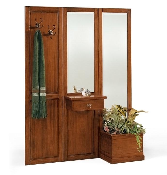 Garderoben-Set Wohnwand aus Holz