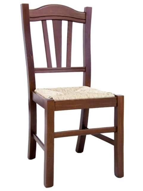 Chaise robuste en bois massif