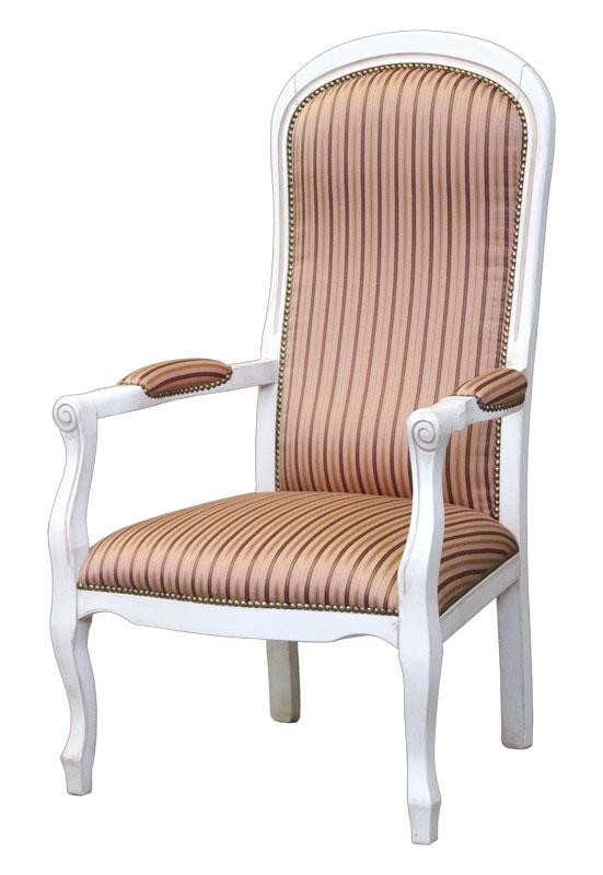 Weißer Sessel Voltaire