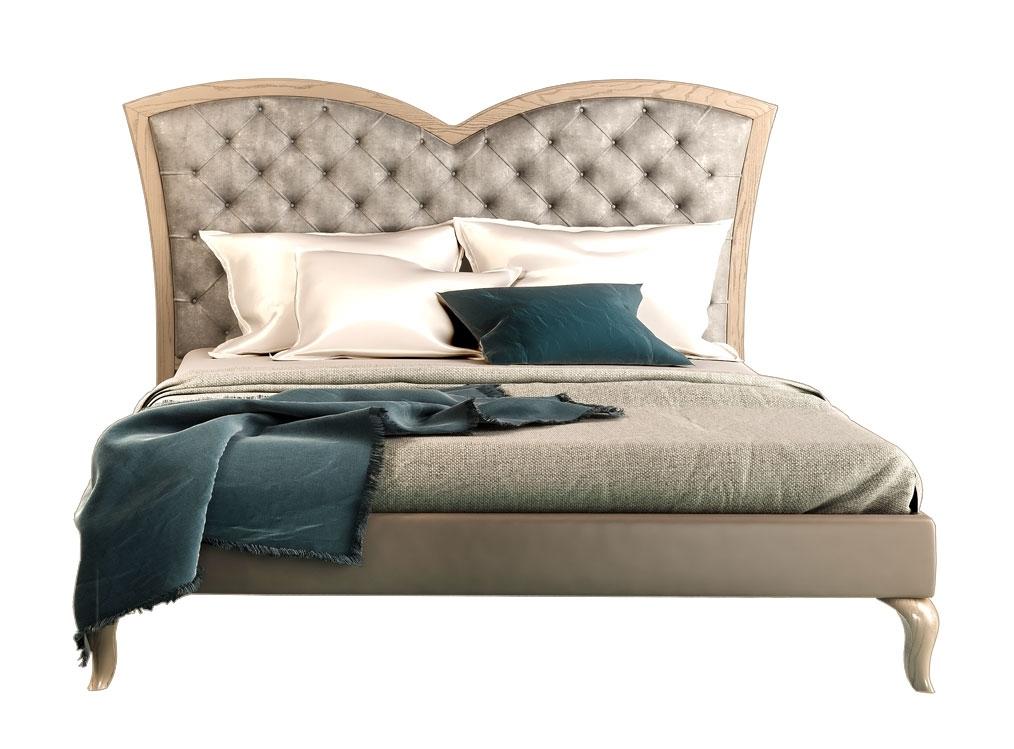 Lit deux places tête de lit rembourrée Sweet Dream