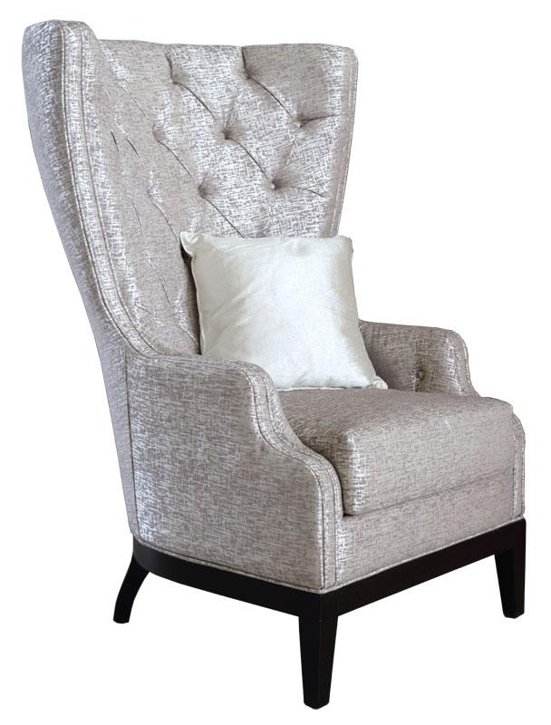 Sessel hohe Rücklehne mit Knöpfen Emily