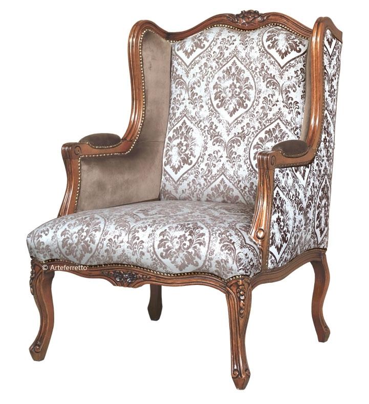 Sessel Bergere mit Knöpfen in der Rückseite
