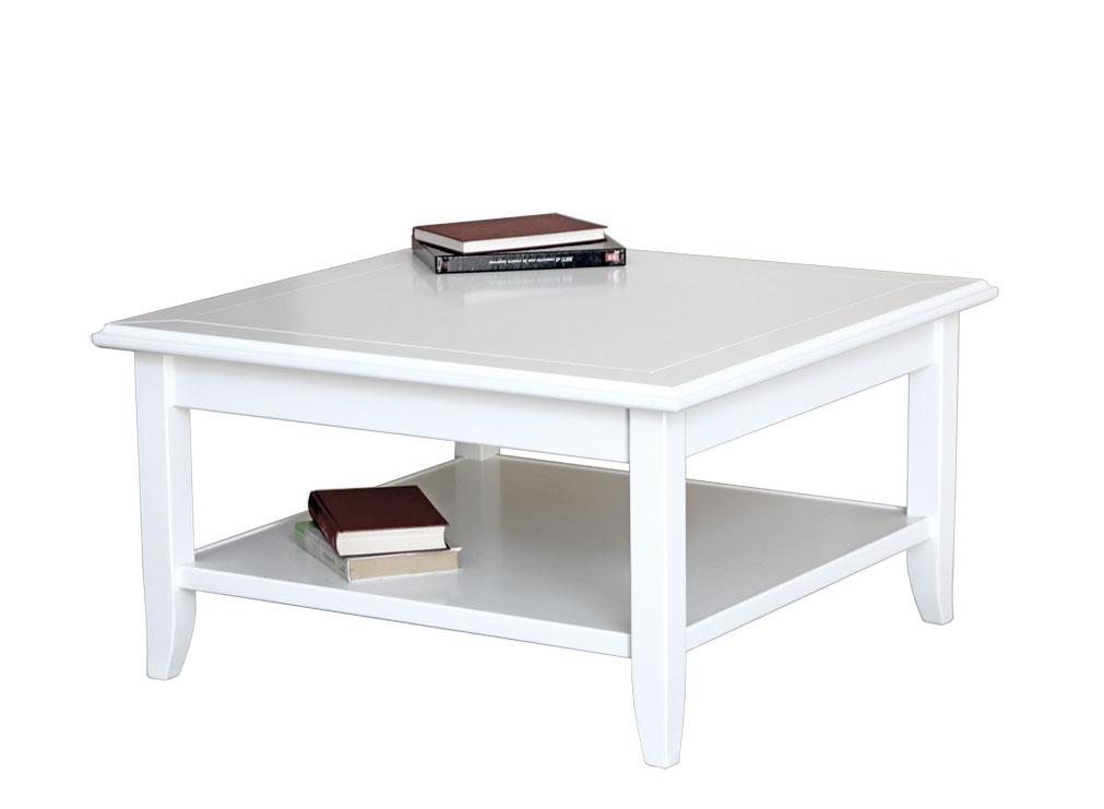 Table de salon carrée 80x80 cm