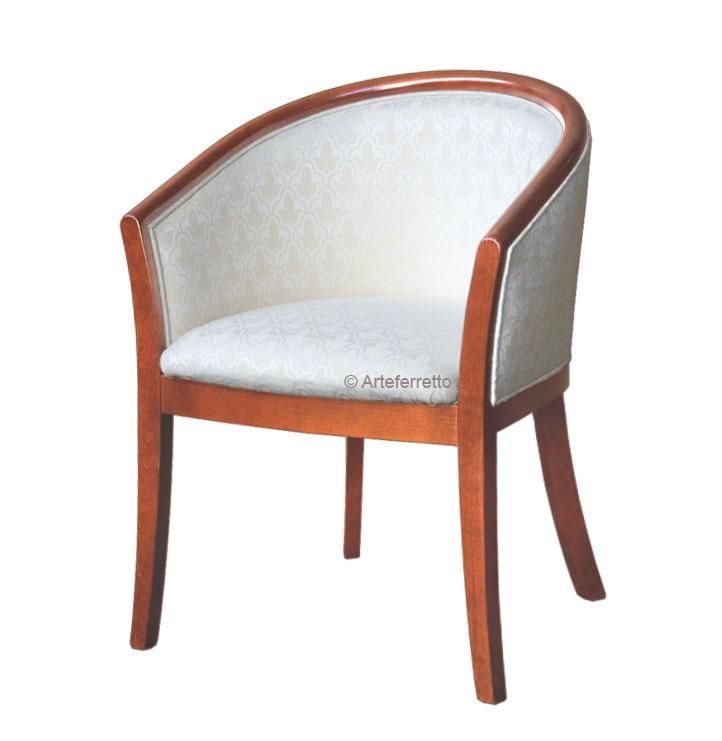 Kleiner Sessel klassisch gepolstert Marea