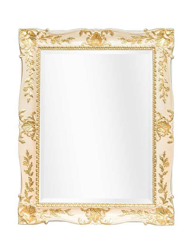 Wandspiegel rechteckig Gold 98x78 cm