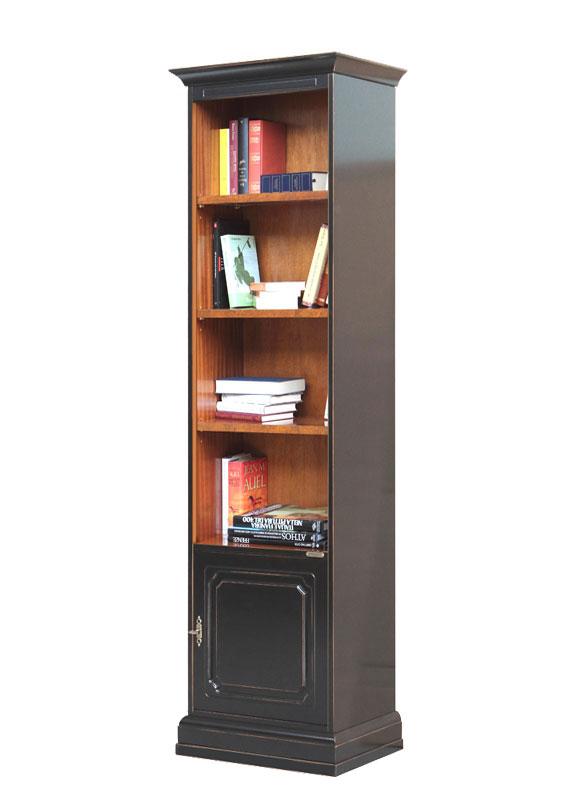 Bücherregal hoch schmal 2 Farben