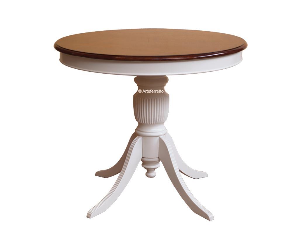 Table ronde fixe Ø90 finition bicolore