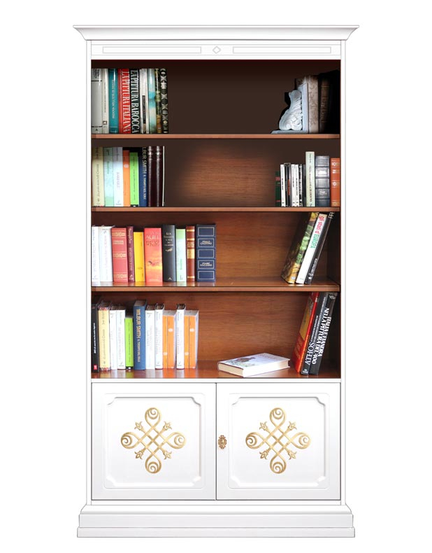 Bücherschrank mit Türen 2 Farben Kollektion YOU