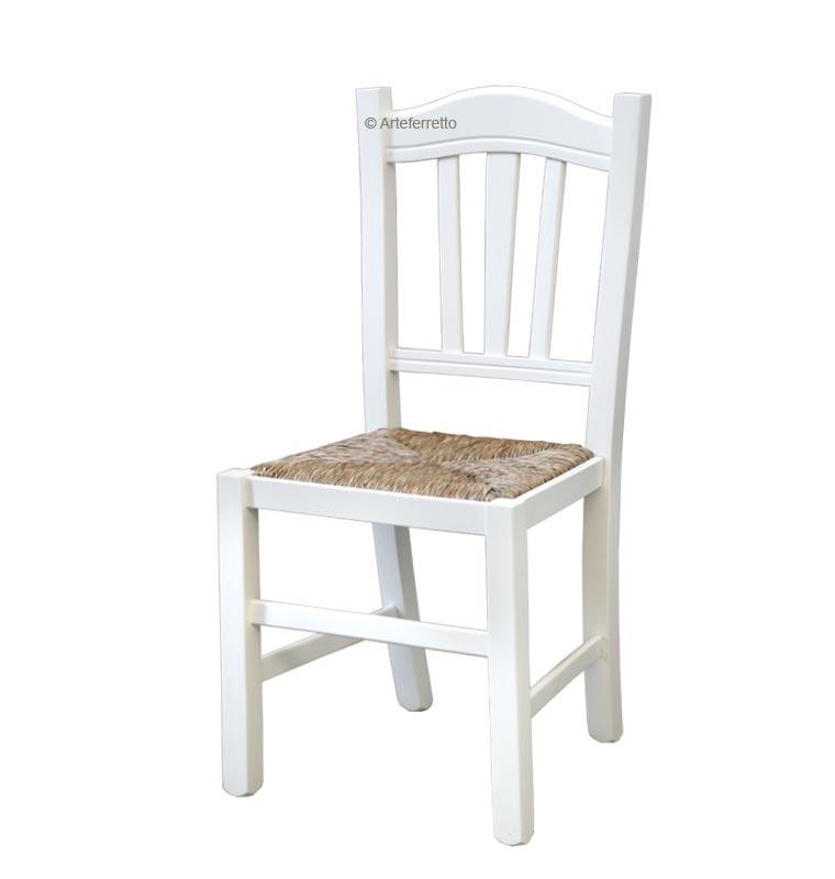Chaise robuste en bois massif style rustique