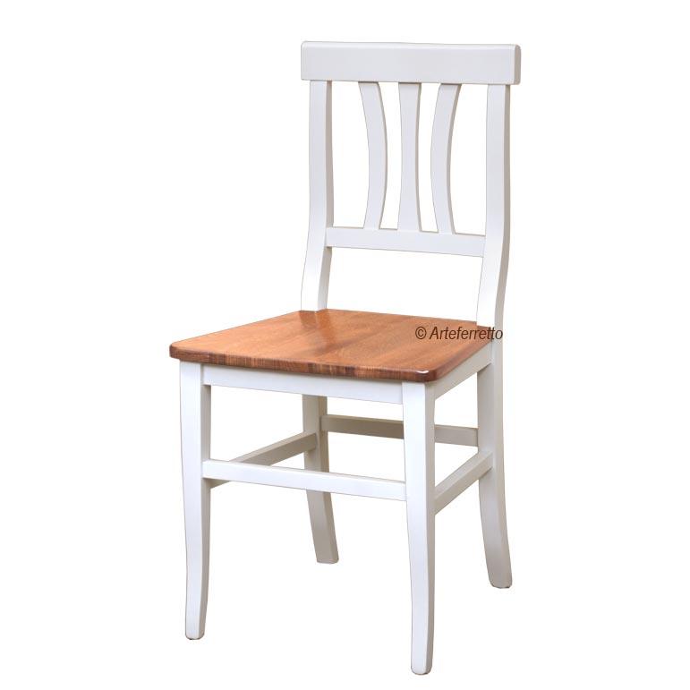 Chaise bicolore style rustique