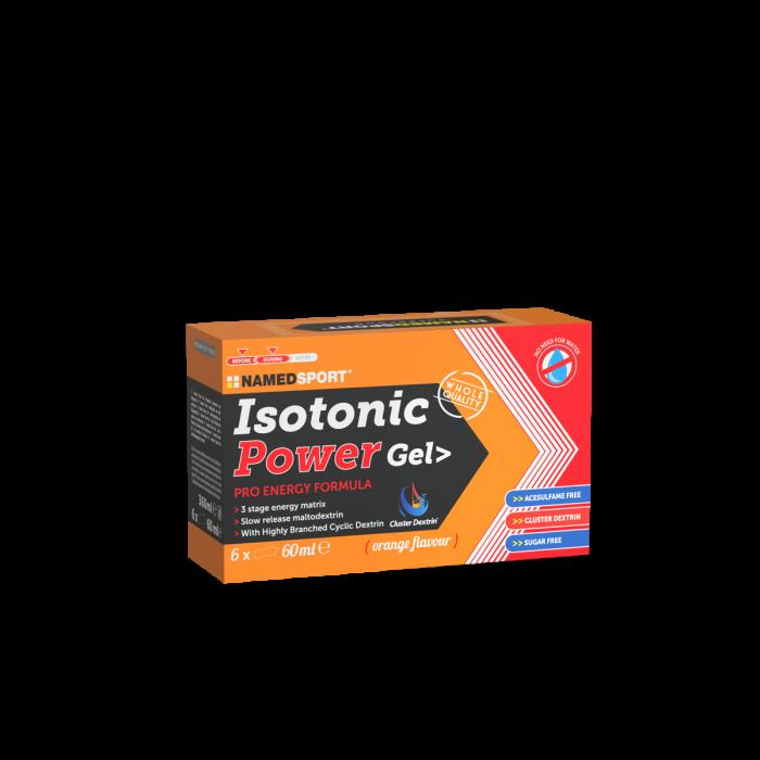 NAMEDSPORT BOX ISOTONIC POWER GEL ORANGE - 6GEL