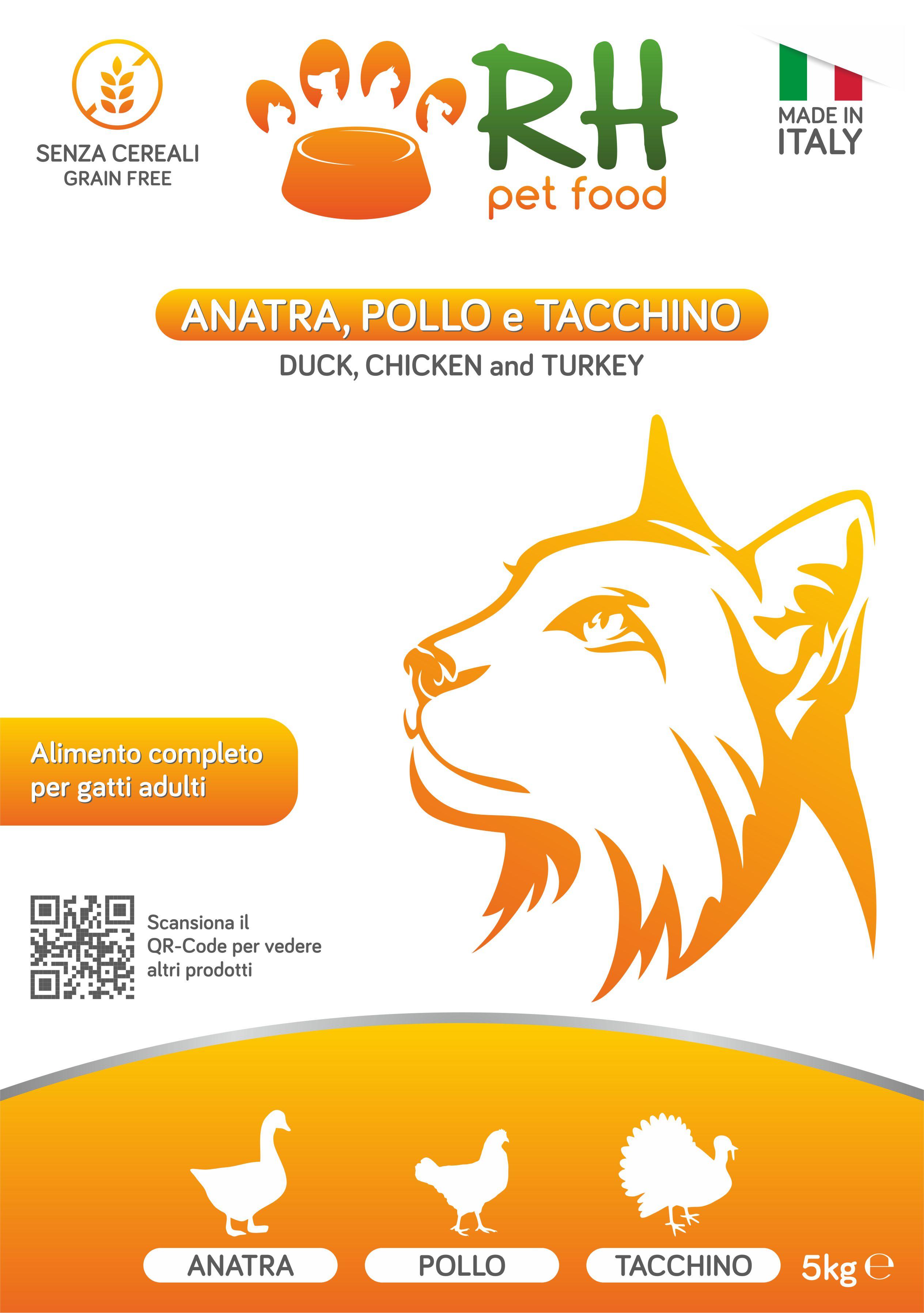 Crocchette grain free Anatra, pollo e tacchino