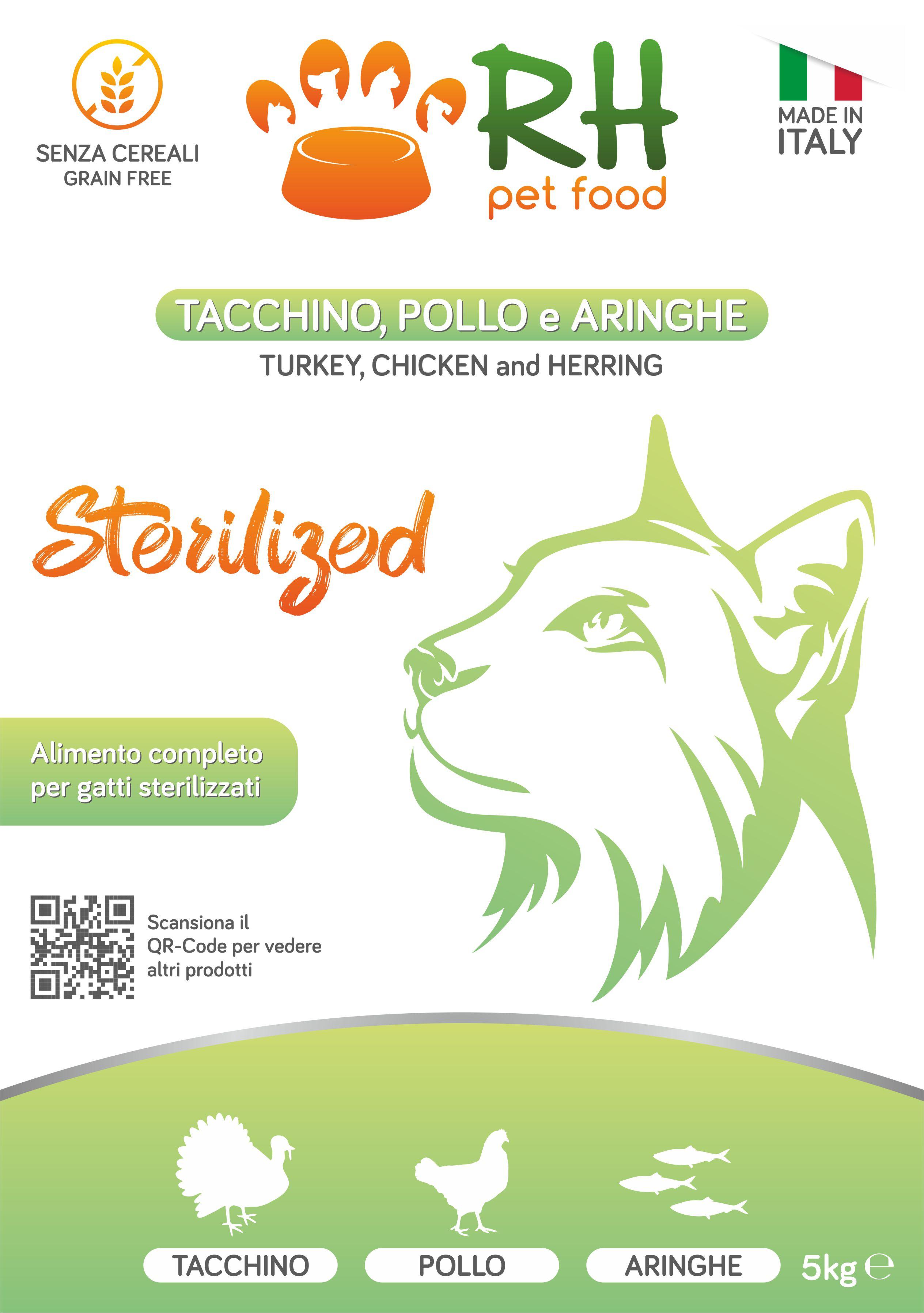 Tacchino, pollo e aringhe sterilized Grain Free