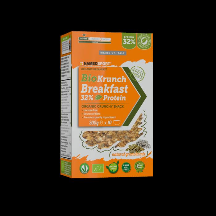 NAMEDSPORT BIOKRUNCH BREAKFAST 32% PROTEIN NATURAL GRANOLA MIX – 200G