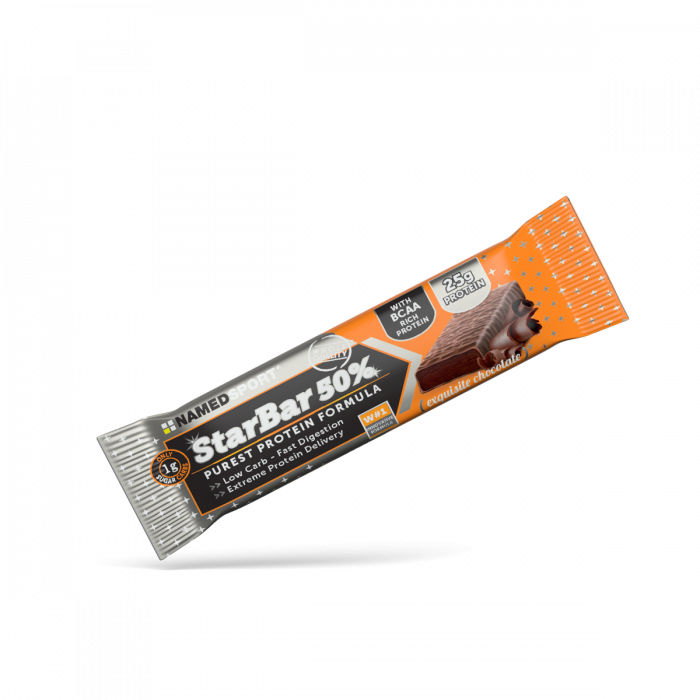 NAMEDSPORT STARBAR 50% EXQUISITE CHOCOLATE - 50G