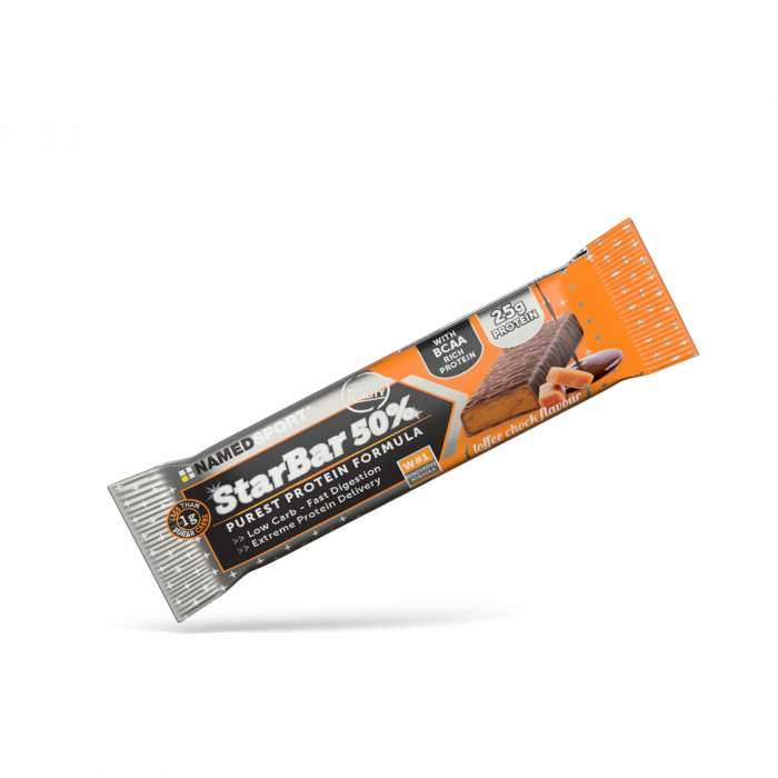 NAMEDSPORT STARBAR 50% TOFFEE CHOCK - 50G