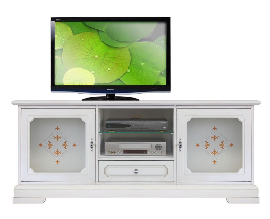 cristal sur tiroirétagère tv top vitrées Meuble laqué2 classbois en Détails portes 1 TJuKcF3l1