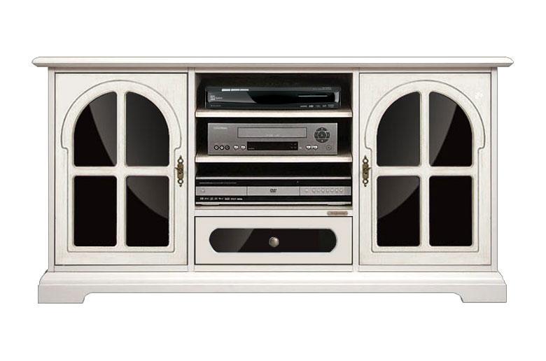 Mobile tv con vetri nero Arteferretto