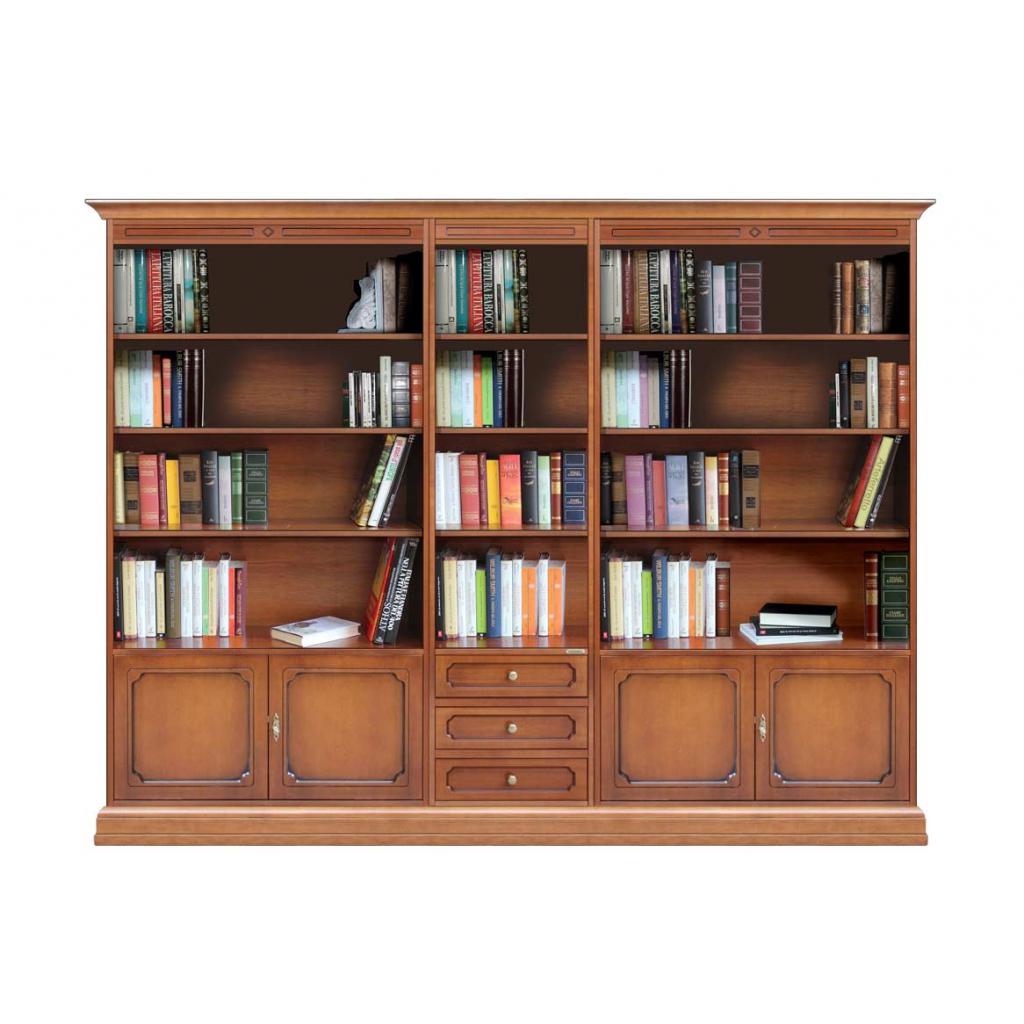 Bibliothèque mur entier 250 cm, meuble mural grandes dimensions, achat bibliothèque murale salon, meuble modulaire avec étagères