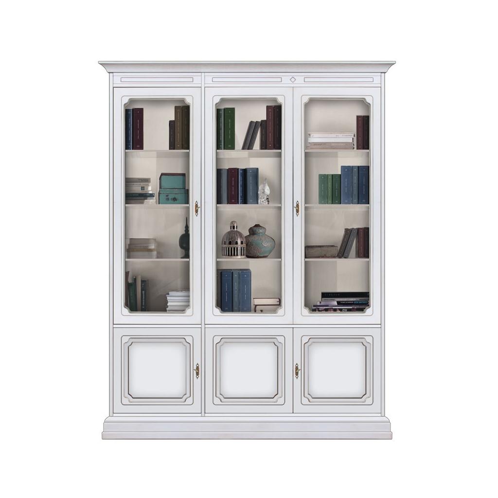 Bibliothèque vitrée murale