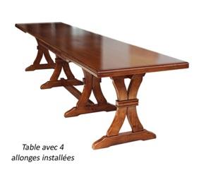 tavolo allungato
